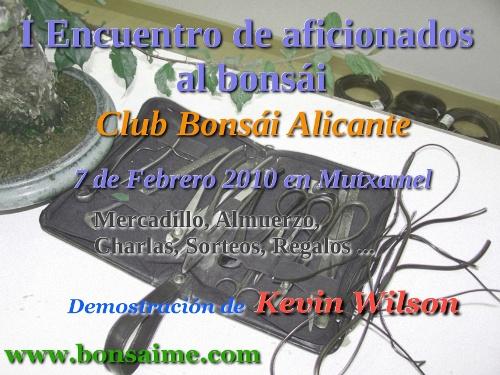 Primer Encuentro Aficionados al Bonsai